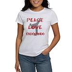 Peace Love Taekwondo Women's T-Shirt