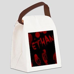 Ethan, Bloody Handprint, Horror Canvas Lunch Bag