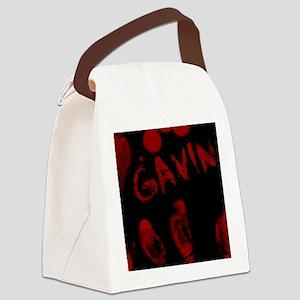Gavin, Bloody Handprint, Horror Canvas Lunch Bag