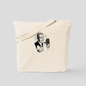 Retro Radio Host Tote Bag