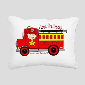 FIRE TRUCK - LOVE TO BE  Rectangular Canvas Pillow
