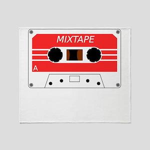 Red Cassette Tape Throw Blanket