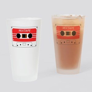 Red Cassette Tape Drinking Glass