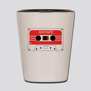 Red Cassette Tape Shot Glass
