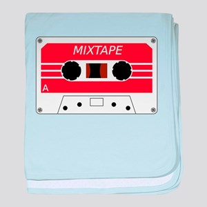 Red Cassette Tape baby blanket