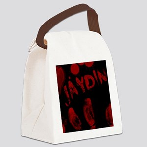 Jaydin, Bloody Handprint, Horror Canvas Lunch Bag