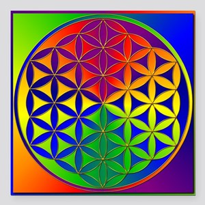 """Flower of Life Square Car Magnet 3"""" x 3"""""""