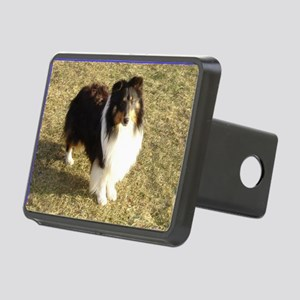 Jeep the Sheltie Rectangular Hitch Cover