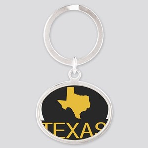 TX Oval Keychain