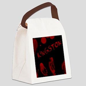 Kingston, Bloody Handprint, Horro Canvas Lunch Bag