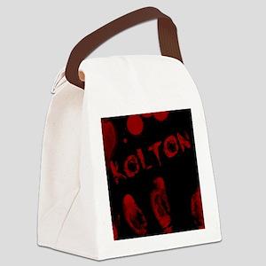 Kolton, Bloody Handprint, Horror Canvas Lunch Bag