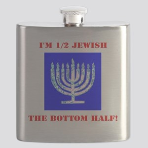 Funny Half Jewish the Bottom 1/2 Flask