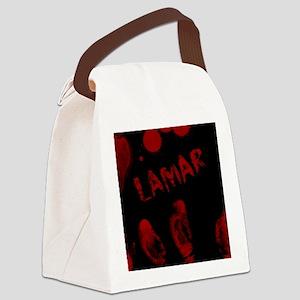 Lamar, Bloody Handprint, Horror Canvas Lunch Bag