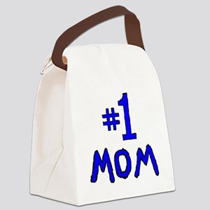 Number One Mom Canvas Lunch Bag