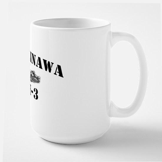 okinawa black letters Large Mug