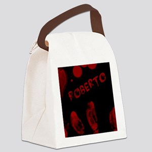 Roberto, Bloody Handprint, Horror Canvas Lunch Bag