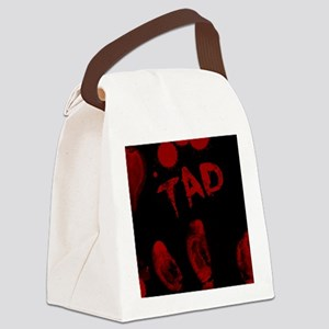 Tad, Bloody Handprint, Horror Canvas Lunch Bag