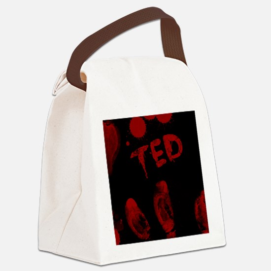Ted, Bloody Handprint, Horror Canvas Lunch Bag