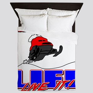 SnowmobileLife Queen Duvet