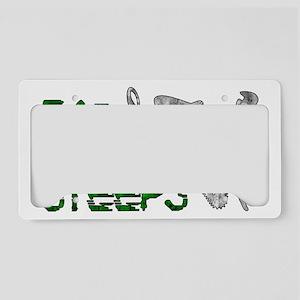 EatTheSteepsDesign2 License Plate Holder