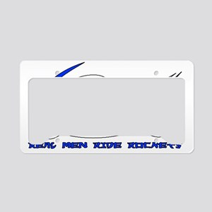 RealMenRocketDarkDesign License Plate Holder