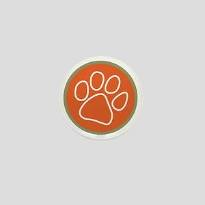 Paw print logo Mini Button
