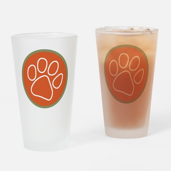 Paw print logo Drinking Glass