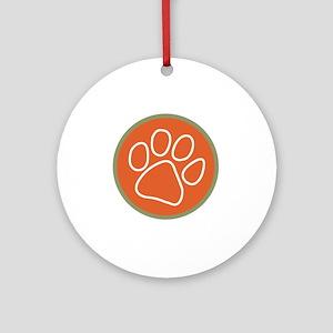 Paw print logo Round Ornament