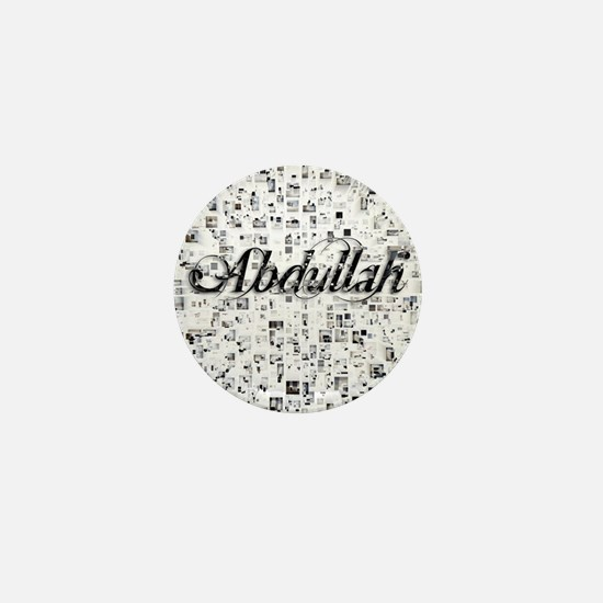Abdullah, Matrix, Abstract Art Mini Button