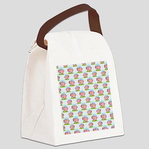 Greedy Pig Canvas Lunch Bag