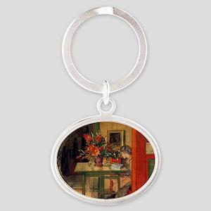 Carl Larsson Oval Keychain