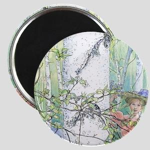 spring by Carl Larsson Magnet