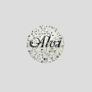 Alva, Matrix, Abstract Art Mini Button