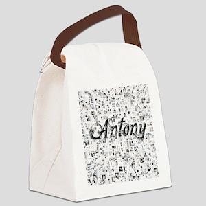 Antony, Matrix, Abstract Art Canvas Lunch Bag