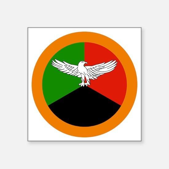 "2000px-Roundel_of_Zambia Square Sticker 3"" x 3"""