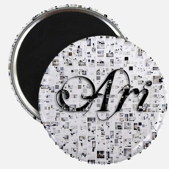 Ari, Matrix, Abstract Art Magnet