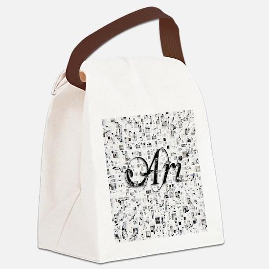 Ari, Matrix, Abstract Art Canvas Lunch Bag