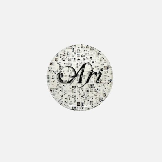 Ari, Matrix, Abstract Art Mini Button