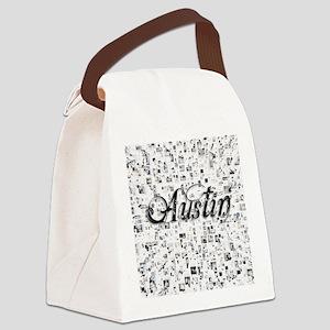 Austin, Matrix, Abstract Art Canvas Lunch Bag