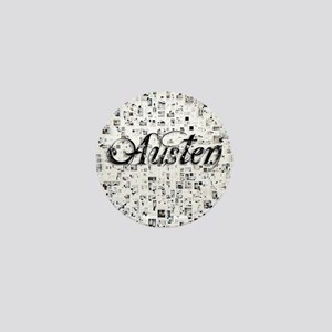 Austen, Matrix, Abstract Art Mini Button