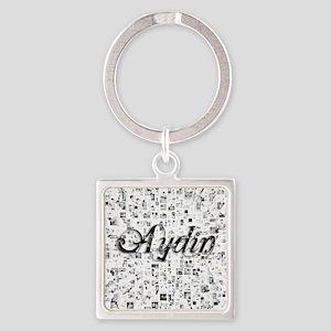 Aydin, Matrix, Abstract Art Square Keychain