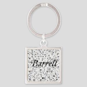 Barrett, Matrix, Abstract Art Square Keychain