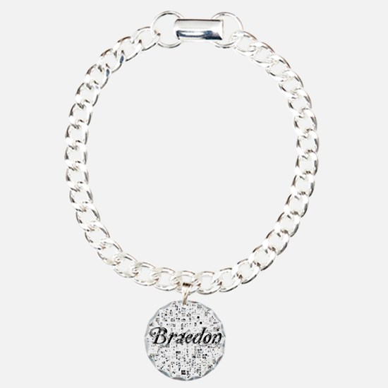 Braedon, Matrix, Abstrac Charm Bracelet, One Charm