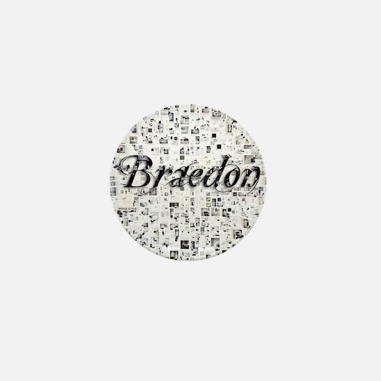 Braedon, Matrix, Abstract Art Mini Button