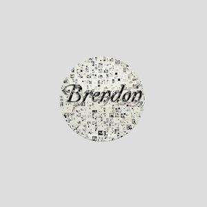 Brendon, Matrix, Abstract Art Mini Button