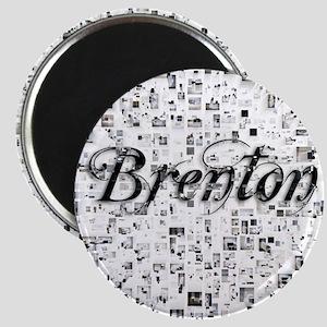 Brenton, Matrix, Abstract Art Magnet
