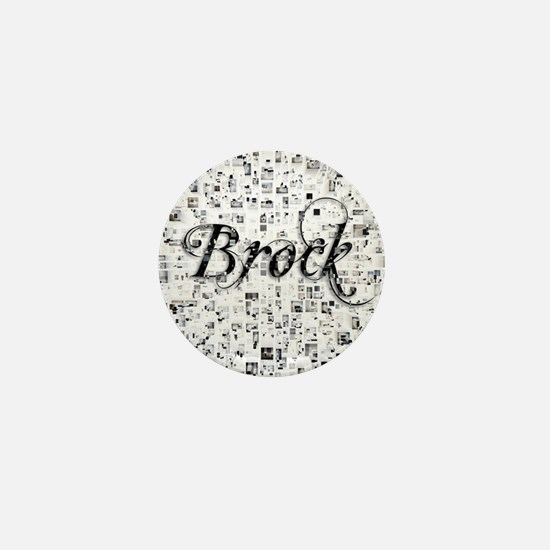Brock, Matrix, Abstract Art Mini Button