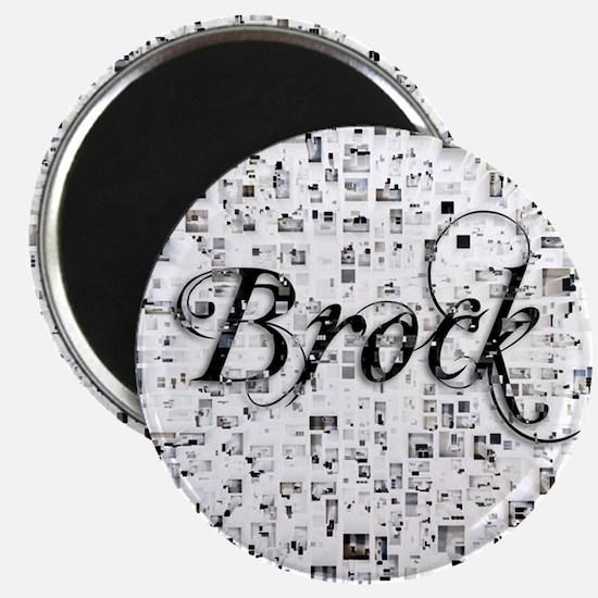 Brock, Matrix, Abstract Art Magnet