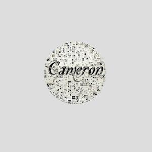 Cameron, Matrix, Abstract Art Mini Button