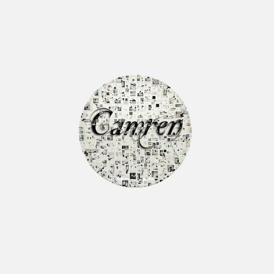 Camren, Matrix, Abstract Art Mini Button